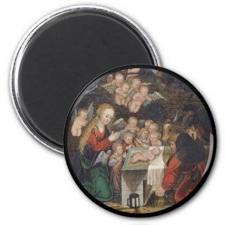 Nativity Featuring Cherubs Magnet