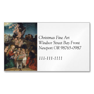 Nativity Featuring Cherubs Magnetic Business Card