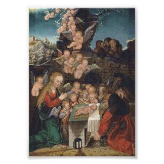 Nativity Featuring Cherubs Photo Print