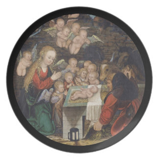 Nativity Featuring Cherubs Plate