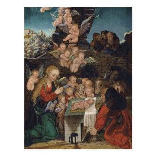 Nativity Featuring Cherubs Postcard