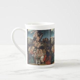 Nativity Featuring Cherubs Tea Cup