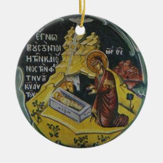 Nativity Icon Christmas Ornament