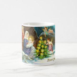 Nativity in the snow coffee mug