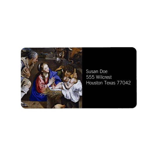 Nativity Label Address Label