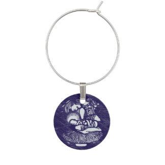 Nativity Letterpress Medallion Wine Charm
