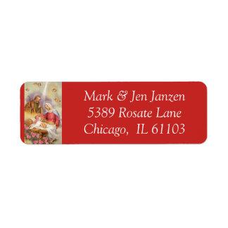 Nativity Manger Scene Return Address Label