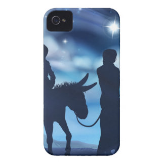 Nativity Mary and Joseph Christmas Illustration Case-Mate iPhone 4 Case