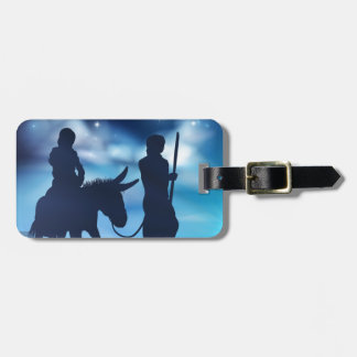 Nativity Mary and Joseph Christmas Illustration Luggage Tag