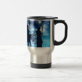 Nativity Mary and Joseph Christmas Illustration Travel Mug