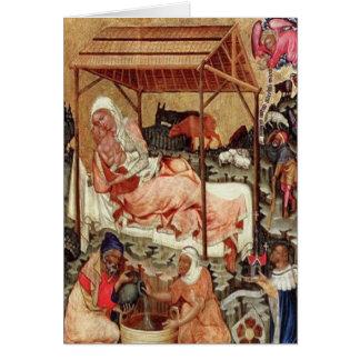 Nativity = Meister von Hohenfurth 1430. Card