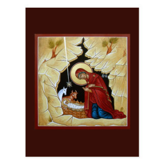Nativity of Christ Prayer Card Postcard