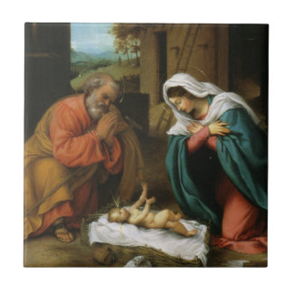 Nativity of Christ Small Square Tile