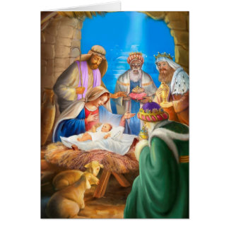 Nativity or Jesus x-mas image for christmas cards
