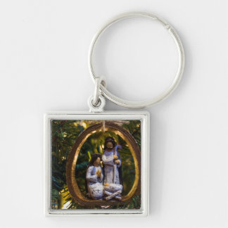 Nativity Ornament Key Ring