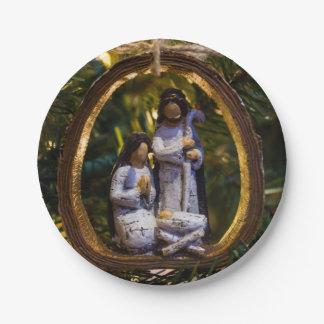 Nativity Ornament Paper Plate