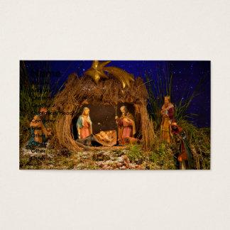 Nativity scene business card