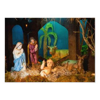 Nativity scene card
