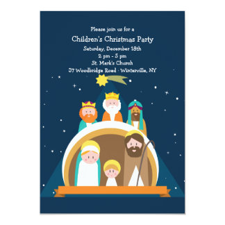 Nativity Scene Christmas Invitation