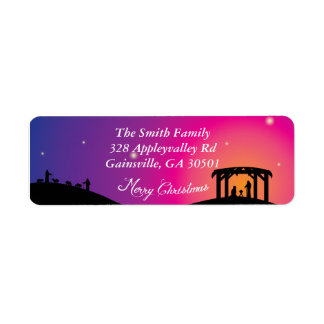 Nativity Scene Christmas Labels
