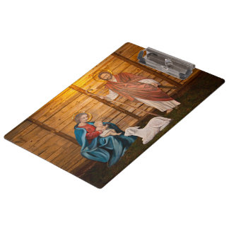 Nativity scene clipboards