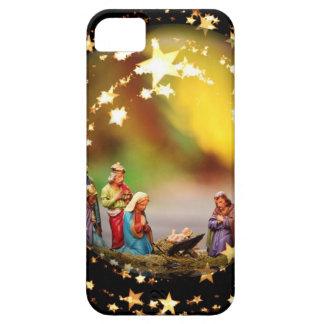 Nativity Scene Crib Virgin Mary Infant Jesus Stars iPhone 5 Covers