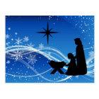 Nativity Scene Customised Christmas Postcard
