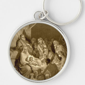 Nativity Scene Gifts for Christmas Key Ring