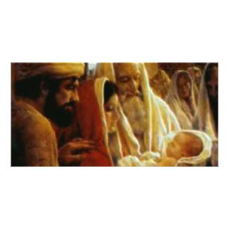 Nativity Scene Gifts for Christmas Custom Photo Card