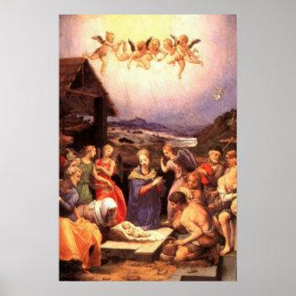 Nativity Scene Gifts for Christmas Print