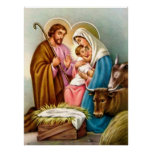 Nativity Scene Gifts for Christmas Posters