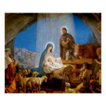 Nativity Scene Gifts for Christmas Print