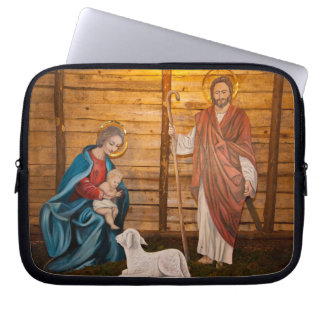 Nativity scene laptop sleeve