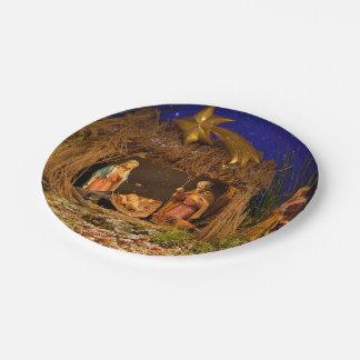 Nativity scene paper plate