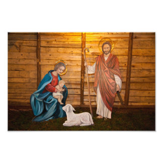 Nativity scene photo print