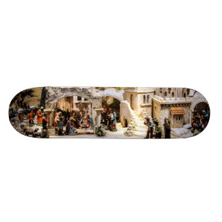 Nativity Scene Setup for Christmas Skateboards