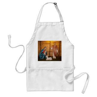 Nativity scene standard apron