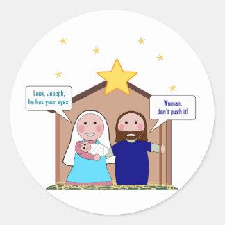Nativity Sin Classic Round Sticker