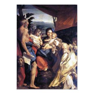 Nativity - The Day - Correggio - Renaissance 13 Cm X 18 Cm Invitation Card