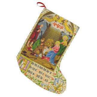 Nativity | Unto you is born this day Small Christmas Stocking