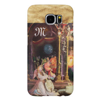 NATIVITY WITH ANGELS - MAGIC OF CHRISTMAS monogram Samsung Galaxy S6 Cases