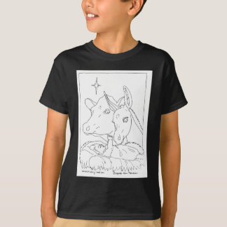 Nativity With Ox and Donkey T-Shirt
