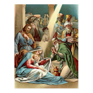 Nativity With Wise Men Postcard