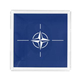 NATO Flag Acrylic Tray
