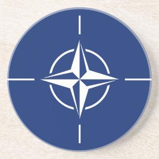 NATO Flag Beverage Coaster