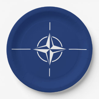 NATO Flag Paper Plate