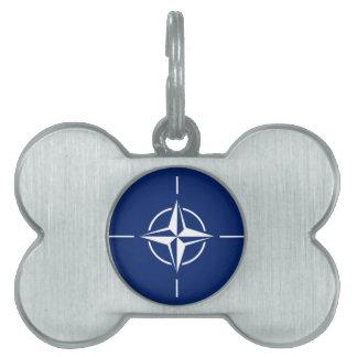 NATO Flag Pet ID Tag