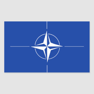 NATO Flag Rectangular Sticker