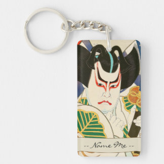 Natori Shunsen Bando Hikosaburo Thirty-six Kabuki Double-Sided Rectangular Acrylic Key Ring
