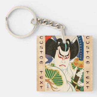 Natori Shunsen Bando Hikosaburo Thirty-six Kabuki Double-Sided Square Acrylic Key Ring